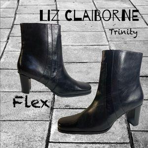 Liz Claiborne flex trinity leather low heel boot
